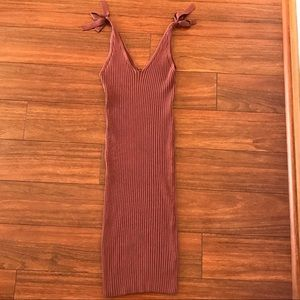 Ribbed Terracotta Fashion Nova Dress